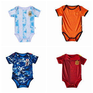 Wholesale summer spain for sale - Group buy New national team Argentina Netherlands Spain Japan MBAPPE Summer Baby Rompers Newborn Baby Boy Girl Romper Jumpsuit Clothes Baby Outfits