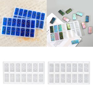 Dominoes Crystal Resin Casting Mold DIY Epoxy Dominoes Games Toys Crafts Handmade Silicone Mould Jewelry Making Tool for Kids Adults