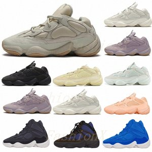 Wholesale ran boots for sale - Group buy shipped within days Desert Rat vision bone white Running Shoes mens womens moon yellow Kanye West Sports Sneakers Boots