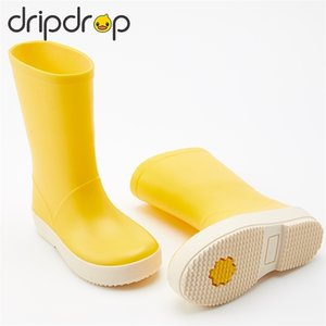 мальчики дождь сапоги оптовых-Dripdrop Kids Girls Boys Classic School Boots Rainoad Rain Rainwear Modyler Praccoat Y201028