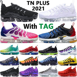 zapatos de menta al por mayor-Vapormax vapor max TN Plus mint Grape Volt Hyper Violet Running Shoes USA Game Royal Wolf Grey Trainers Zapatillas deportivas