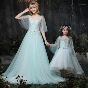 Wholesale maternity clothes ball gowns resale online - Mother Daughter Wedding Dresses Ball gown Maternity Dress Mom and Baby Girl Dress Clothes Photography Pregnancy family outfits1
