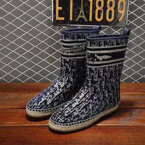 Wholesale rope boots for sale - Group buy New Ladies autumn winter snow boots hemp rope soles preschooled embroidered lamb feather ankle boots flat cotton boots leather