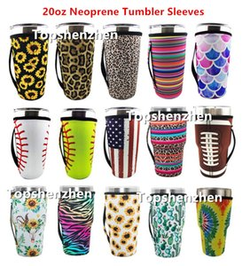15 Style 20oz Tumbler Holder Cover Bags Iced Coffee Cup Sleeve Neoprene Insulated Sleeves Mugs Cups Water Bottle Cover With Strap Handle