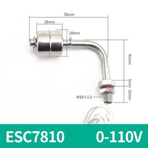Wholesale liquid level float resale online - ELECALL Bent Water level Switch float Liquid sensor Stainless Steel Tank Pool Flow sensors ESC7810 V V