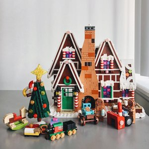 Wholesale houses for dolls for sale - Group buy MOC City Creator Gingerbread House Snow Villages Friends Lepining Technic Blocks Figures Dolls Girls Toys For Christmas Gifs X0102