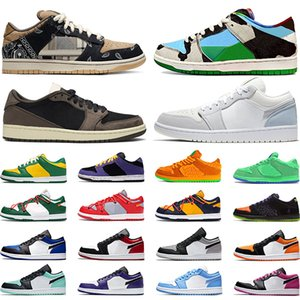 Wholesale volleyball lowest for sale - Group buy Skateboard shoes chunky dunky Bears Green Chicago s low Shattered Backboard basketball shoe mens womens trainers sports sneakers size