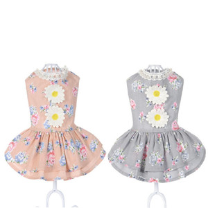 ingrosso abiti per cuccioli-Vendita calda Dog Cat Bow Tutu Dress Skirt Gonna Pet Cucciolo di cane Principessa Costume Costume Abbigliamento Abbigliamento Piccolo Pretty Nice Princess J2