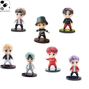 Wholesale bts doll resale online - Bangtan Boy Groups Doll Model Cute Anime Character KPOP Star Idol BTS Mini Figures Christmas Birthday Gift Toys for Children Y0112