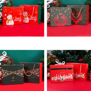 Wholesale scarves world for sale - Group buy 2021 Christmas paper bags Packaging Box Apple Christmas Gift Box Scarf Socks Colorful World Cover Christmas Gift Box