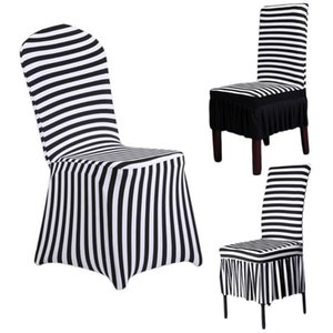 Wholesale chair covers stripes for sale - Group buy Home Decor Chair Cover Wedding Decoration Stripe Polyester Spandex Dining Chair Covers For Wedding Party Cover