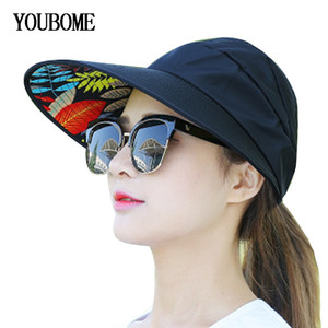 Wholesale big brim sun visor hat for sale - Group buy YOUBOME Fashion Summer Hats For Women Sun Hats For Women Female Beach New Visors Solid Panama Floppy Girl Big Brim Cap Sun Hat