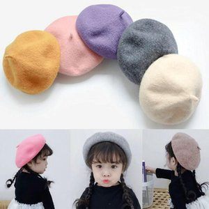 Wholesale cute warm outfit for sale - Group buy Wool Cute Baby Girls Beret Hats Autumn Winter Baby Warm Hat Painter Hat Hair Accessories Outfit Y