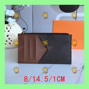 Wholesale stone bits for sale - Group buy d esigner bags womens fashion original black leather card holder ID card holder multi bit leather ID card holder