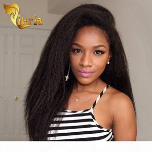 Wholesale womens wig human hair for sale - Group buy Kinky Straight Silk Base Full Lace Human Hair Wigs Brazilian Virgin Hair Indian Peruvian Malaysian Lace Front Wigs For Black Womens