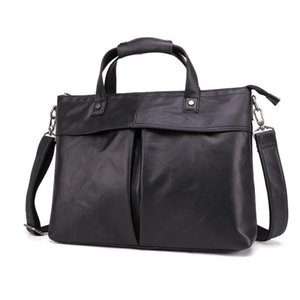 Wholesale men brief cases for sale - Group buy Leather Inch Men Briefcase Laptop Computer Cow Bag Case Messenger Luxury Brief Designer Bags For Real Wdlbl