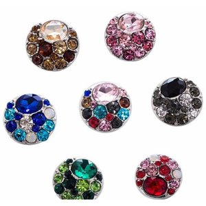 Wholesale european jewelry newest designs for sale - Group buy 10Pcs Newest Design High Quality Rhinestones Snap Button Bracelet For Women Fit Mm Snap Button Jewelry Czdmm