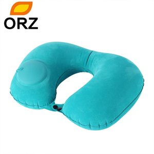 Wholesale air pillows resale online - Car Travel Pillow Neck Pillow U Shape Inflatable Head Rest Air Pillows Cushion for Travel Office Nap Head Rest Air Neck Cushion
