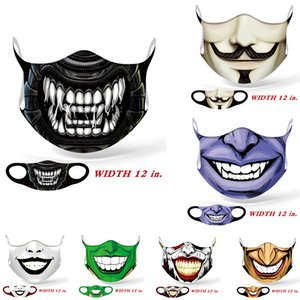 Wholesale mustache masks resale online - face masks fashion face mask Halloween cosplay full color ice silk mask mustache ghost skull dust mask