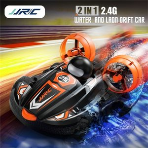 Wholesale boat remote controlled for sale - Group buy JJRC Q86 G IN Amphibious Drift Car Remote Control Hovercraft Speed Boat RC Stunt Car for Kid Boys OutdoorRC Models Toys