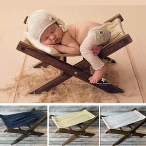 Wholesale photography wood resale online - Liantu Newborn Photography Accessories Retro Wood Deck Chair Sofa Baby Photography Props Photo Shooting Props Bed Recien Nacido LJ201105