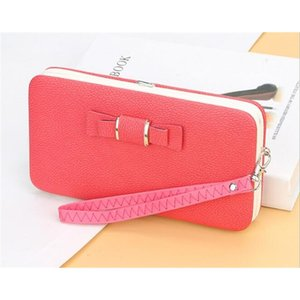 Wholesale ladies lunch bags for sale - Group buy 2020 Fran Tui New Korean Version Ladies Wallet Purse Women s Long Bow Tie Lunch Box Phone Bag K Mirrh