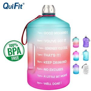 Wholesale gallon water bottles resale online - QuiFit L L L Gallon Water Bottle Large Capacity GYM Fitness Tourism BPA FREE Sports Jugs Tour Bottles Outdoor Kettle