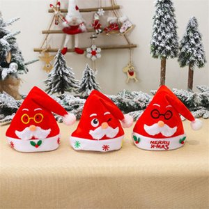 Wholesale glass wears for sale - Group buy Christmas Santa Hat Velvet Children Adult Embroidered Santa Wear Glass Red Hat Merry Xmas Party Hat EWA1938