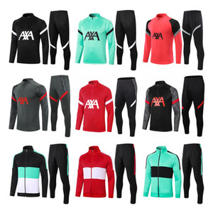 Wholesale long sleeve soccer jersey kit for sale - Group buy 2021 red tracksuit Soccer Training Suit Jersey Tracksuits Long Sleeve Soccer set training suit Uniform kit