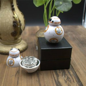 Wholesale death stars for sale - Group buy Herb Grinder Metal Grinder Death Star Century Robot Toy Metal Zinc Alloy Grinders Tobacco Spice Crusher Accessories