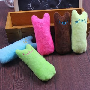 Wholesale cat plush toy for sale - Group buy Mini Teeth Grinding Catnip Toy Cat Interactive Molar Plush Toy Kitten Chewing Vocal Claws Thumb Bite Toy