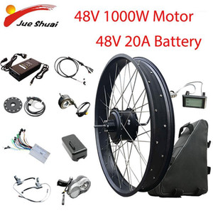 Wholesale hub motor bike resale online - Electric Bike Conversion Kit Fat Tire Bicycle V1000W Hub Motor V20AH Battery Bicicleta Eletrica Brushless Motor1
