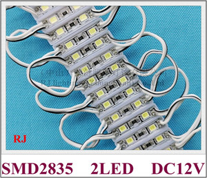 26mm*07mm SMD 2835 LED module light lamp for mini sign and letters DC12V 2led 0.4W epoxy waterproof high bright factory direct sale