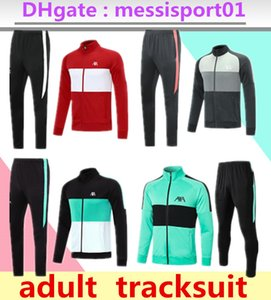 Wholesale train track sets resale online - 2020 adult track suit tights trainers sportswear men tracksuit full zipper training jacket set