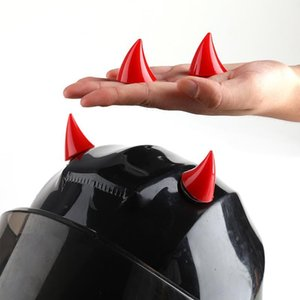 Wholesale accessories for motorbikes resale online - 2Pcs Motorcycle Helmet Horn Soft Plastic Motorbike Helmet Horns Sucker Decoration Accessories For Motorcycle1
