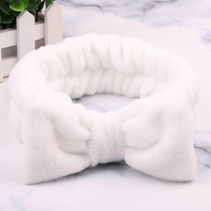 Wholesale making hair bands for sale - Group buy 2020 Big Rabbit Ears Coral Fleece Soft Elastic Hairbands Bath Shower Make Up Wash Face Headband Hair Band Girls Hair Accessories Q bbyPuS