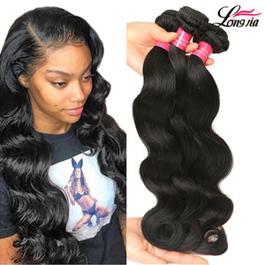 Wholesale 9A Brazilian Human Hair Weave 4 Bundles Body Wave Double Weft Brazilian Virgin Hair Bundles Free Shipping