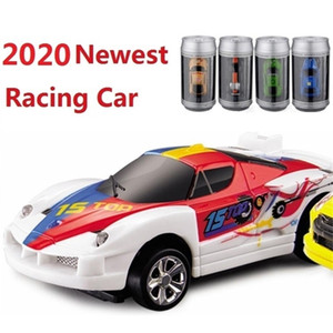Wholesale racing car sales resale online - 16 Hot Sale Coke Can Mini RC Car Electronic cars Radio Remote Control Micro Racing Car h High speed Vehicle Gifts for Kids LJ201209