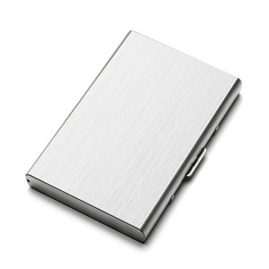Wholesale custom gift card holders for sale - Group buy Stainless Steel Card Case Business Card Holder Gift Creative Custom Large Capacity Card Holder