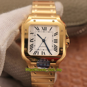 frauen uhren golden großhandel-Ewigkeit V2 BVF weißes Zifferblatt Miyota Automatische Womens Watch Sapphire k Gold Case SmartLink Quickswitch Strap Lovers Uhren