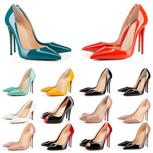 louboutin talons hauts  achat en gros de-news_sitemap_homeLouboutin Christian WTH Box High Heels Bottoms rouges Femmes Talons Stiletto cm Luxurys Luxurys Cuir Point Toe Pump Lady Mocassins Designers Taille