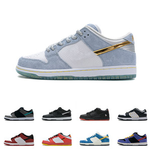 Mens SB Sean Cliver Skate Shoes LOW Shadow QS Skateboard OG Raygun Syracuse StrangeLove Women Sneakers Civilist Chunky Dunky Ladies Trainers
