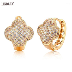 Wholesale earrings trends resale online - LINDLEY New jewelry earrings for women dangle drop gold earrings rose gold four leaf clover fashion trend party wedding1