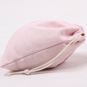 Wholesale cotton canvas laundry bag for sale - Group buy Pink Canvas Drawstring Bags Cotton Storage Bags Laundry Favor Holder Fashion Jewelry Pouches Gift Bags FWD2929