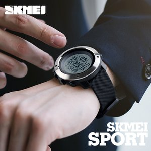 Wholesale skmei electronic watch resale online - Skmei Fashion Men Sports Watches Chrono Double Time Wristwatches Mens Digital Led Electronic Clock Man Relogio Masculino