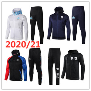 2020 21 Men tracksuit soccer jacket Maillot De Foot 20 21 MBAPPE KEAN PAYET BALOTELLI THAUVIN Football hoodie jacket full Zipper tracksuit