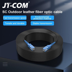 Wholesale optics cable for sale - Group buy SC UPC to SC UPC Fiber Optic Drop Cable Single Mode Simplex mm Outdoor Fiber Optic Patch Cord Optical Patch Cable1
