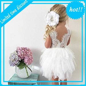 ingrosso costume artiglio bianco-Pizzo V Back Girls Abbigliamento Bianco Artigli Principessa Dress Elegante anni Teenager Girl Costume Unicorno Vestidos Girls dress