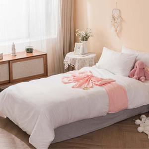 Wholesale kids pink bedding sets for sale - Group buy Japan Style Bedding Set Girl Kids Room Single Double Bed Covers Pink Bow Decor White Duvet Cover Bedspread Pillowcase Sets