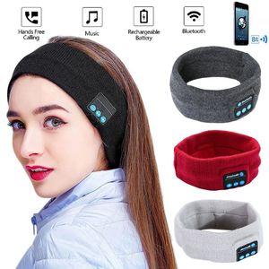 Wireless outdoor Cap Bluetooth Stereo Headphones sports Running Earphone Sleep Headset Sports Sleeping Music Headband wearable HIFI Mic